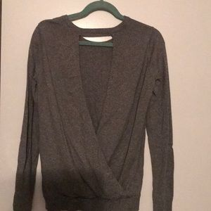 BCBG Generations open back long sleeve sweater